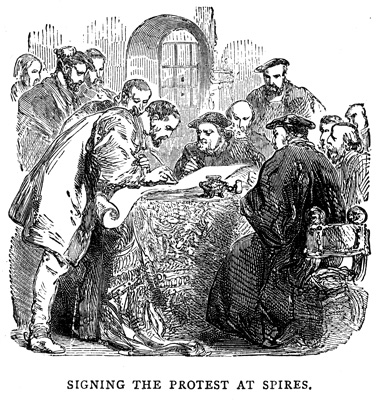Signing the Protest at the Diet of Spires